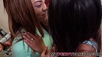 Hot FFM College Threesome with Sister & Hot Friend!
