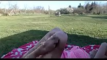 Newly pregnant mom live porn show outdoor on the grass صورة