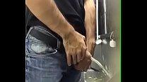 Urinal spy men pissing