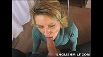 British milf POV blowjob in stockings