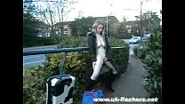 Naughty milf public nudity and outdoor amateur flashing of Ayla