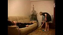 Young housemaid fucked by older guy