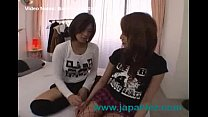 Dirty Asian Lesbian Girl Licks Black High Heel Boots of Other Dike
