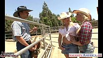 Hot country girls Brooke Haven and Emma Heart s...