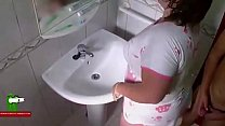 The fat girl wearing the puppy pajama fucks in the bathroom ADR0066 pornhub video