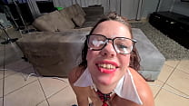 Cum All Over My Nerdy Glasses After I Suck Your