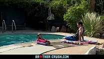 Brothercrush - Older Stepbrother And Friend Fuck A Hot Twink On A Massage Table