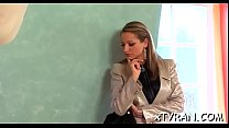 Breathtaking babe gets bound up and gagged by n...