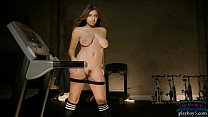 Curvy Latina Teen Workout And Striptease In The