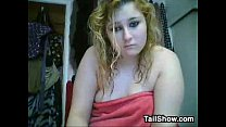 Chubby Blonde Chats And Takes A Bath