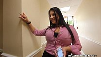 Kim Cruz Thick Latina gives BBC Blowjob in her Office image
