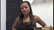 Gorgeous ebony lady sucks white dicks and gangbang fucking 14