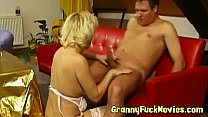Cock sucking horny blonnde granny