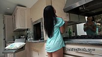 Screenshot Petite Asian wi thout panties banging in kitch anging in kitchen
