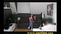 Casting - Confident 18 year old with huge natural breasts image