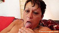 Strange mama plastic dong show