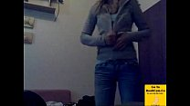 College Girl Takes Her Top Off-1stTime On Webcam thumbnail