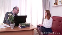 Tricky Old Teacher - Sandra gets tricked into sex by her perverted teacher Image