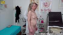 Freaky doctor examines wet pussy of horny granny - MatureGynoExam.com thumbnail