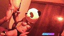 Cogida con disfraz de pandita