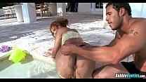 Nice Latina Cougar at the pool