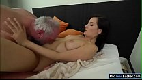 Melody Mae licked and fucked by grandpa