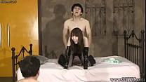 Aya Kisaki Japanese Femdom Cunnilingus and Fuck thumb