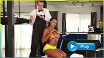 BANGBROS - Young Ebony Pornstar Makes Her Butle...