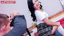 LETSDOEIT - Asian Brunette Adriana P. Has Sex With Dirty Photograph Agent