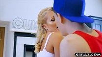 12214 Mature mom seduces a young guy and fucks him in the kitchen preview