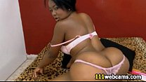 Black girl shakes her huge fat ass on webcam