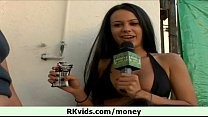 Money talked to that this hot babe 1
