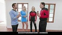 DaughterSwap - Cosplay Teens (Riley Kay) (Violet Storm) Deepthroat And Fuck Their Stepdads