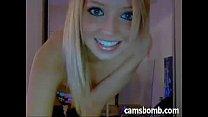 Blonde teen striptease and masturbation on cam pornhub video