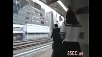 School girl want to fuck on train thumbnail