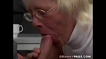 Granny Takes Huge Cock In Office preview image