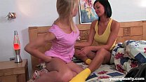 Busty teen Adria gets fucked by a lesbian