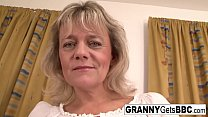 Blonde Granny Wants Her Pussy Stuffed With Blac