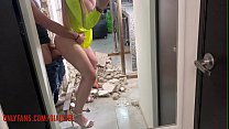 Gia Itzel, gets horny and ends up fucking with the bricklayer who remodeled her house without Condon.
