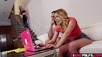 Aubrey Sinclair and Sarah felling wet