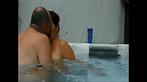 Mature couple having an amazing sex experience in their pool pornhub video