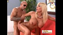 Amazing Blonde Uses Her Big Tits To Make A Dick