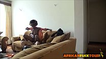 Afro babe enjoys visiting old time friend preview image