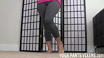 Yoga pants hug  my pussy so tightly JOI htly JOI