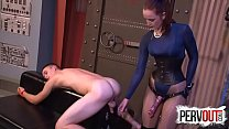 English Stepmom Keeps Stepson in Dungeon to Fuc...