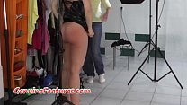 Cumshot in backstage for sexy czech chick porn image