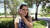 College babe banged in public restroom