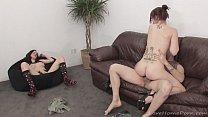 Girlfriend masturbates while her lover fucks someone