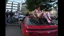 crazy babe expose herself in public