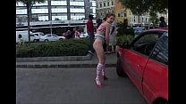 crazy babe expose herself in public thumbnail